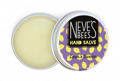 Lemon and Lavender Beeswax Hand Salve Open Tin