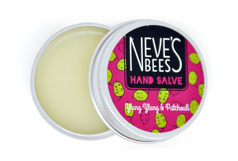 Neve's Bees YlangYlang & Patchouli Hand Salve - great for cracked hands