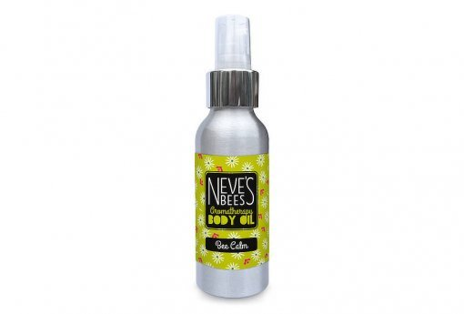 Bee Calm body oil from Neve's Bees. With pump dispenser