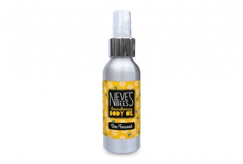 Bee Focused body oil from Neve's Bees. With pump dispenser