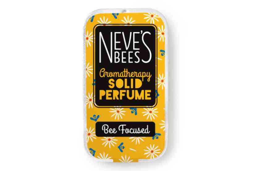 Bee Focused Solid Perfume from Neve's Bees (closed tin)