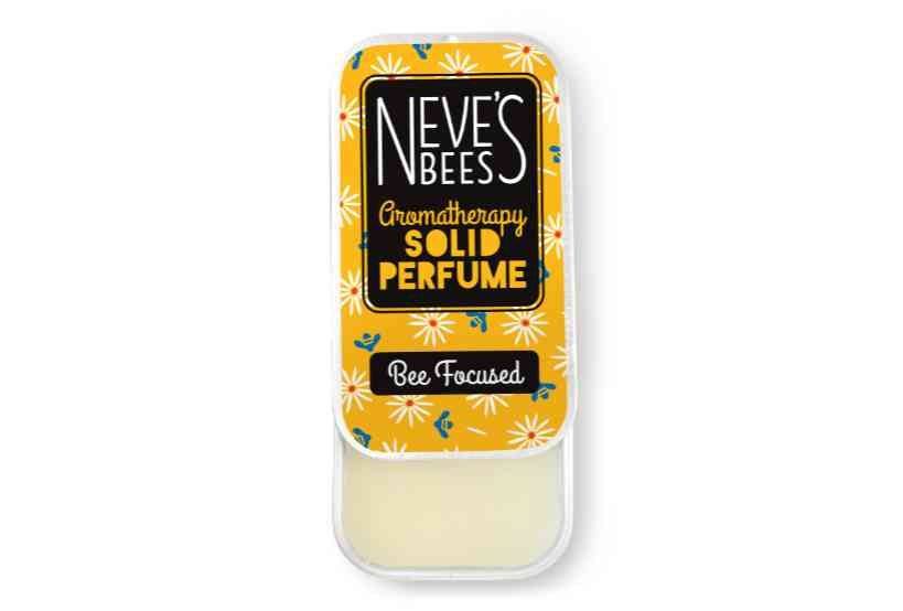 Bee Focused Solid Perfume from Neve's Bees (open tin)