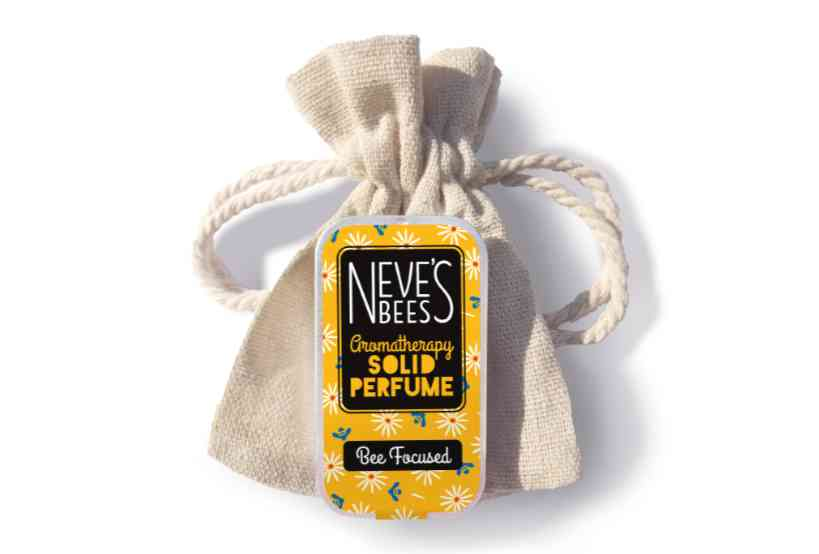 Bee Focused Solid Perfume with bag from Neve's Bees