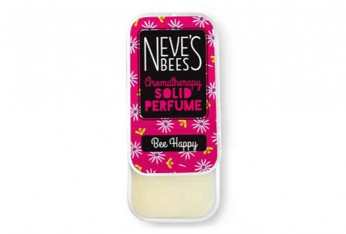 Bee Happy Solid Perfume from Neve's Bees (open tin)