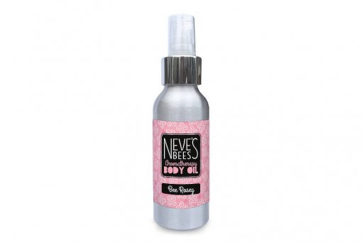 Bee Rosey body oil from Neve's Bees. With pump dispenser