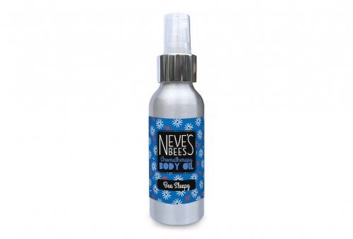 Bee Sleepy body oil from Neve's Bees. With pump dispenser