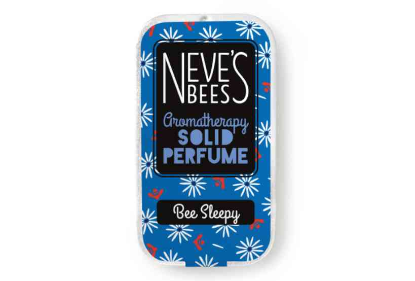 Bee Sleepy Solid Perfume from Neve's Bees (closed tin)