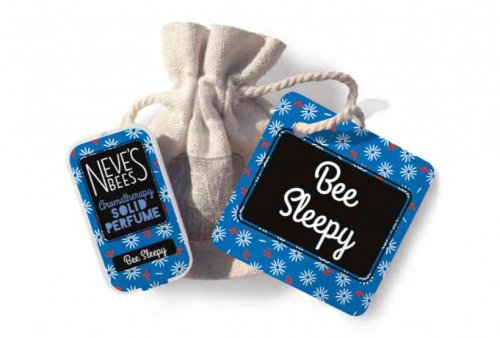 Bee Sleepy Solid Perfume with bag and tag from Neve's Bees