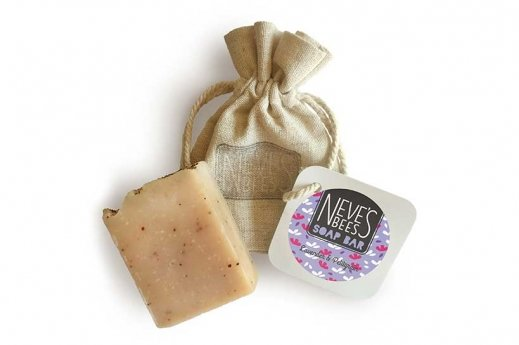 Lavender and Pettigrain handmade soap bar from Neve's Bees