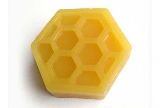 Neve's Bees Beeswax block with hexagon motif