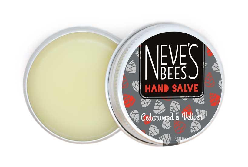 Neve's Bees Cedarwood & Vetiver Hand Salve (Open) - the men's hand cream