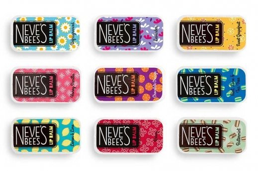 Neve's Bees Lip Balm range. A complete lip balm gift set.
