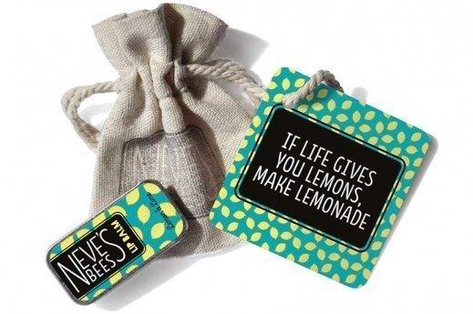 Neve's Bees Gift bag If Life Gives You Lemons with lemon and lime lip balm - a lovely lip balm gift
