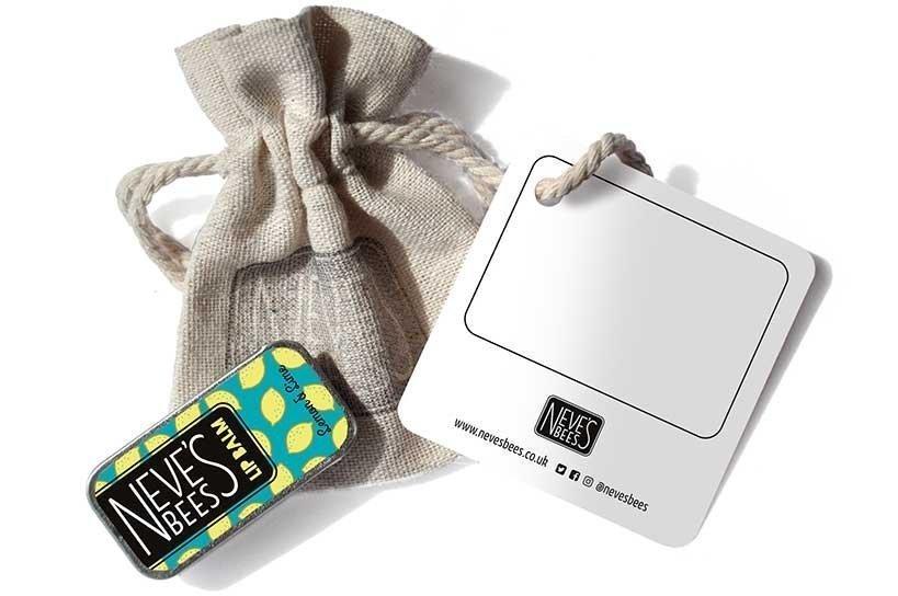 Neve's Bees Gift bag If Life Gives You Lemons with lemon and lime lip balm - a thoughtful lip balm gift