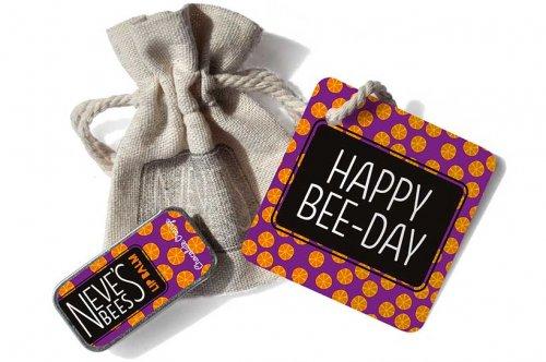 Neve's Bees Happy Birthday Gift Bag with Chocolate Orange Lip Balm