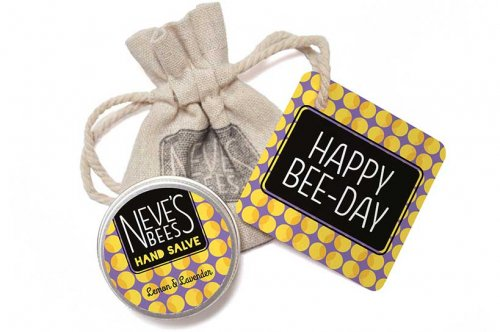 Neve's Bees Happy Birthday Gift Bag with Lemon and Lavender Hand Salve