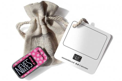 Neve's Bees Happy Vibes Gift Bag with Honey Vanilla Lip Balm - a thoughful eco-friendly gift