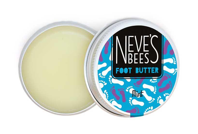 Neve's Bees Foot Butter - Mint (open tin)