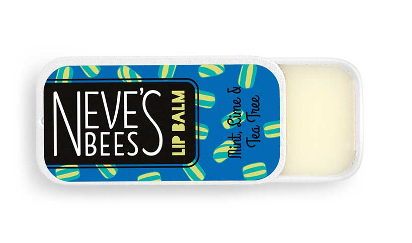 Mint, Lime and Tea-tree Lip Balm from Neve's Bees - great for chapped lips