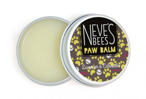 Neve's Bees Paw Balm Lavander and Chamomile. Perfect for cracked dog paws.