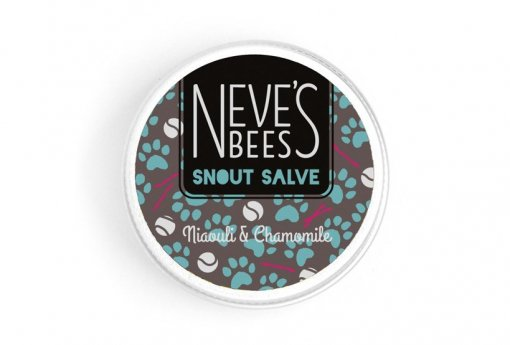 Snout Salve - Niaouli and Chamomile. A great dog nose balm. Neve's Bees