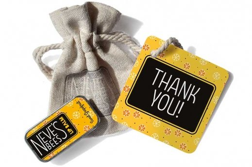 Neve's Bees Thank You Gift Bag with Sweet Grapefruit Lip Balm