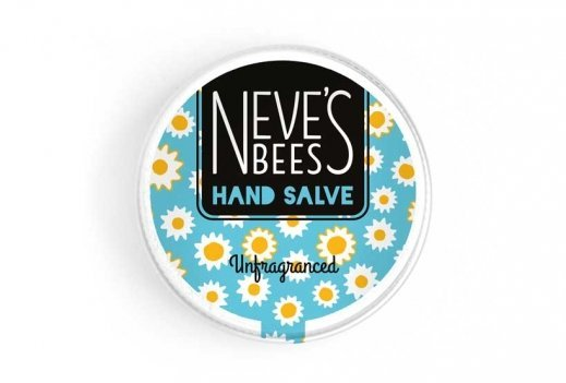 Neve's Bees Unfragranced Hand Salve (Closed) for sensitive skin