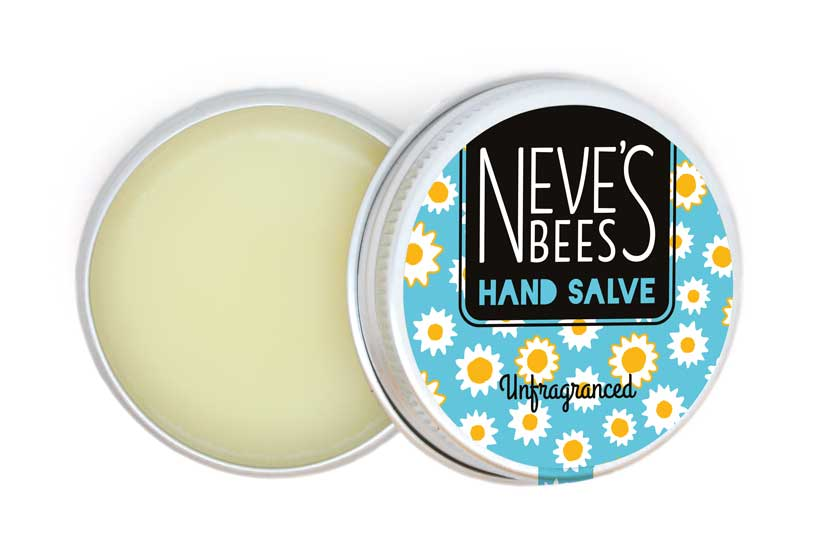 Neve's Bees Unfragranced Hand Salve (Open) for sensitive skin