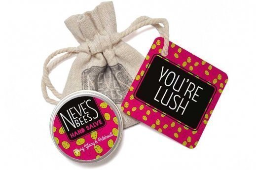Neve's Bees You're Lush eco-friendly Gift Bag with Patchouli and Ylang Ylang Hand Salve
