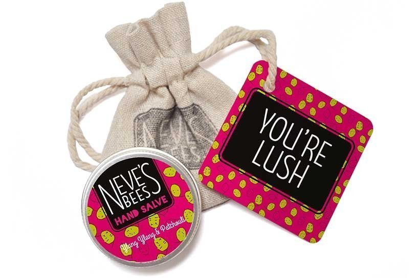 Neve's Bees You're Lush Gift Bag with Patchouli and Ylang Ylang Hand Salve